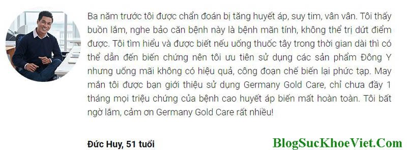 Người dùng reviews chất lượng Germany Gold Care