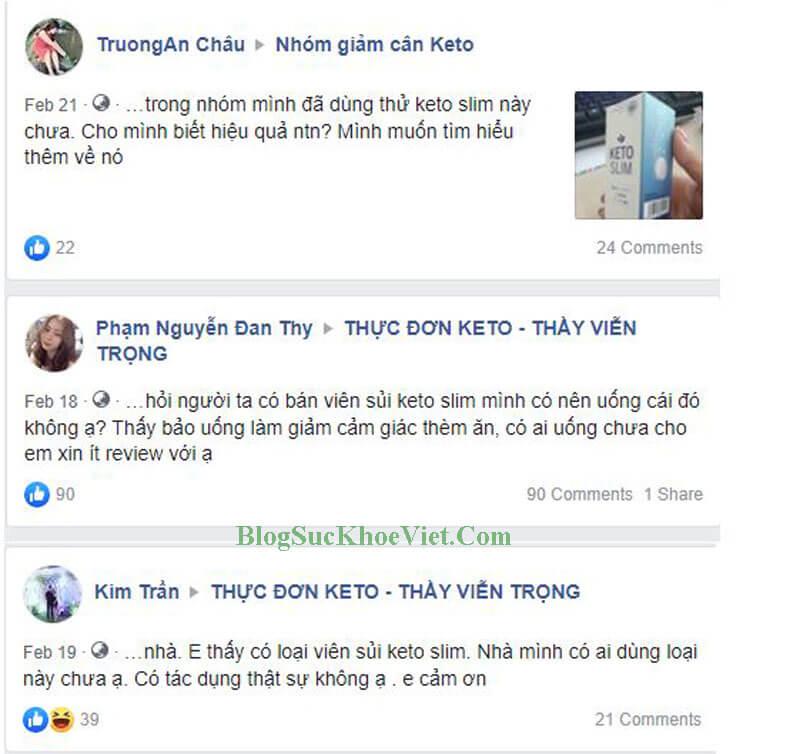 Review của khách hàng đã dùng Keto Slim