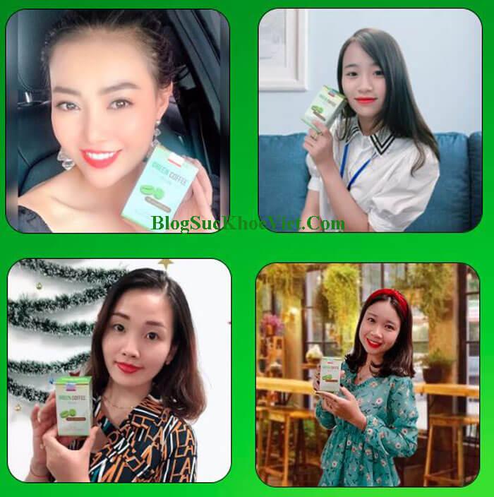Hình ảnh khách hàng sử dụng Cà Phê Giảm Cân Green Coffee bean