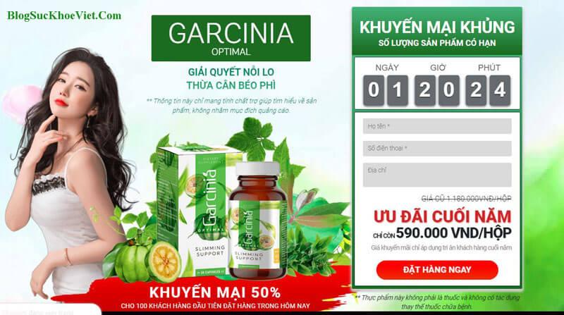 Garcinia Optimal giá bao nhiêu? Mua ở đâu giá tốt?