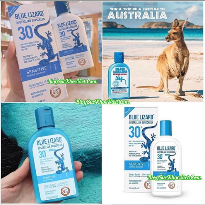 KCN Phổ Rộng Blue Lizard Australian Face Suncream SPF