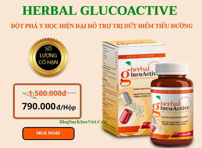 Chữa Tiểu Đường Herbal GlucoActive