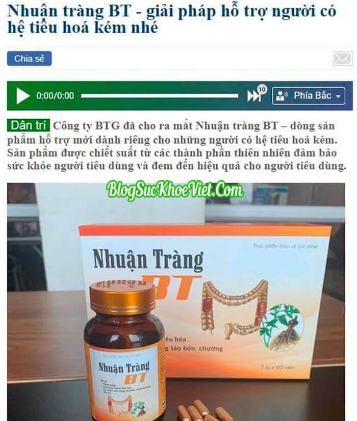 Báo Chí Nói Gì Về Thuoc Nhuan Trang BT?