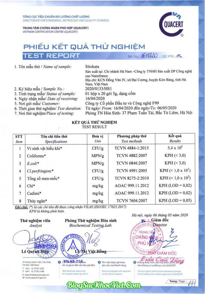 Bộ Y Tế kiểm định và cấp phép lưu hành toàn quốc