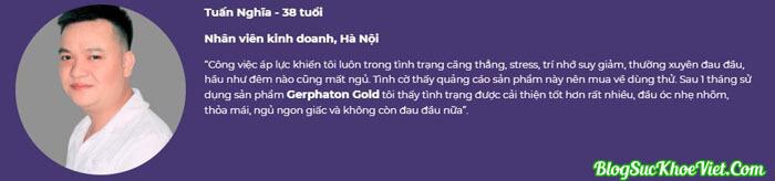 Khách hàng review về chất lượng Gerphaton Gold