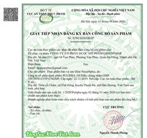 Thạch Giảm Cân NoCard Plus Bộ Y Tế kiểm định và cấp phép
