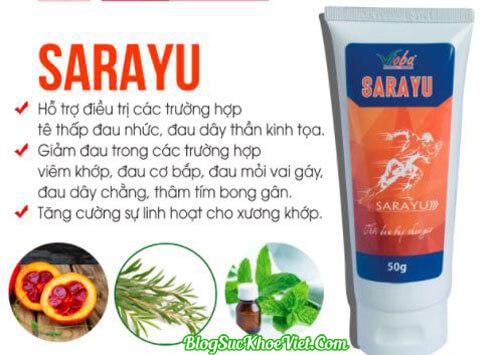 Khám phá thành phần của kem xoa bóp Sarayu