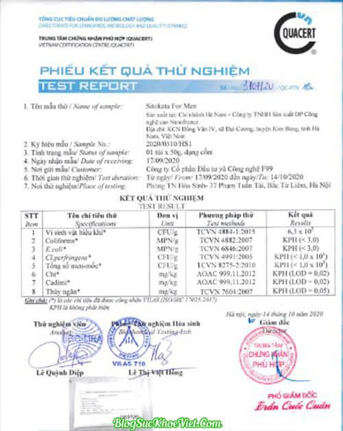 Bộ Y Tế Cấp Phép Bột cần tây Sitokata For Men