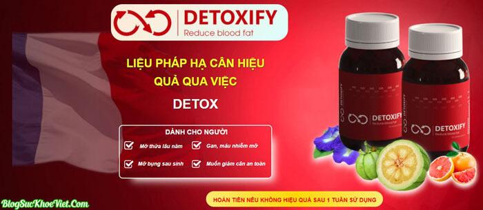 Giảm Cân Detoxify - Giải Pháp Đào Thải Mỡ Thừa Nội Tạng