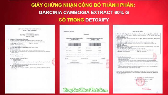 Bộ Y Tế Cấp Phép Sản Phẩm Giảm Cân Detoxify